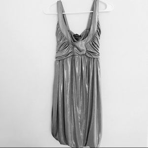 Bebe silver metallic dress